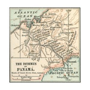 Map of Central Panama (C. 1900) by Encyclopaedia Britannica