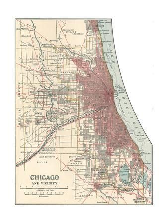 Map of Chicago (C. 1900), Maps