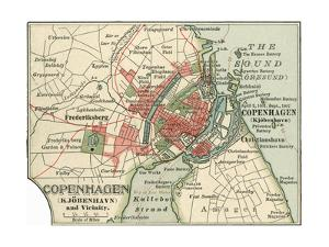 Map of Copenhagen (C. 1900), Maps by Encyclopaedia Britannica
