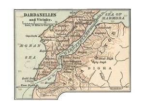 Map of Dardanelles (C. 1900), Maps by Encyclopaedia Britannica