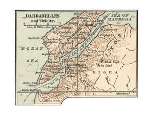 Map of Dardanelles (C. 1900), Maps by Encyclopaedia Britannica