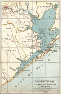 Map of Galveston Bay, Houston and Vicinity (C. 1900) by Encyclopaedia Britannica
