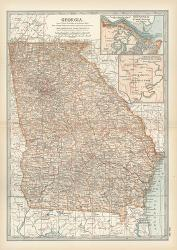 Map Of Georgia United States.Affordable Maps Of Georgia Posters For Sale At Allposters Com