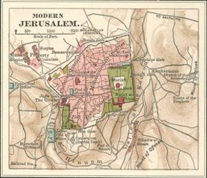 Map of Jerusalem (C. 1900), Maps by Encyclopaedia Britannica