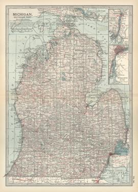 Map of Michigan, Southern Part by Encyclopaedia Britannica