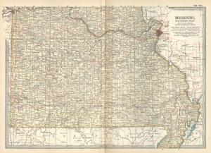 Map of Missouri, Southern Part. United States by Encyclopaedia Britannica