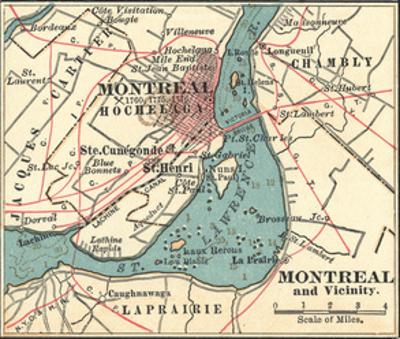 Map of Montreal (C. 1900), Maps by Encyclopaedia Britannica