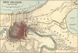 Map of New Orleans (C. 1900), Maps by Encyclopaedia Britannica