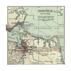 Map of Norfolk by Encyclopaedia Britannica