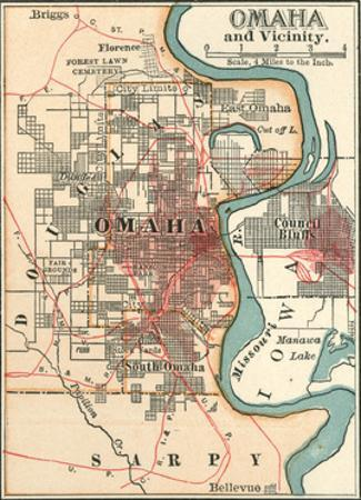 Map of Omaha and Vicinity