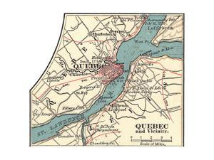 Map of Quebec (C. 1900), Maps by Encyclopaedia Britannica