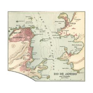 Map of Rio De Janeiro (C. 1900), Maps by Encyclopaedia Britannica