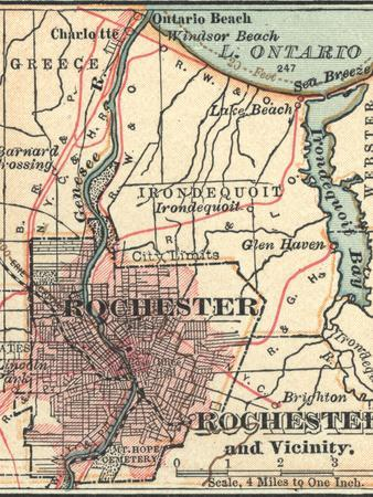 Map of Rochester (C. 1900), Maps