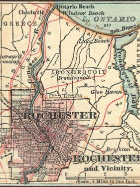 Map of Rochester (C. 1900), Maps by Encyclopaedia Britannica