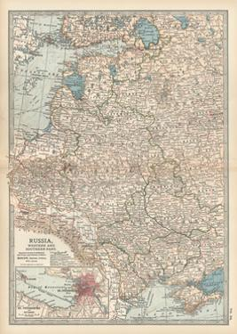 Map of Russia, Western and Southern Part. Inset of St. Petersburg and Environs by Encyclopaedia Britannica