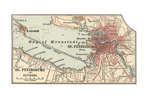 Map of St. Petersburg (C. 1900), Maps by Encyclopaedia Britannica