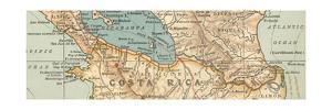 Map of the proposed Nicaragua Canal by Encyclopaedia Britannica