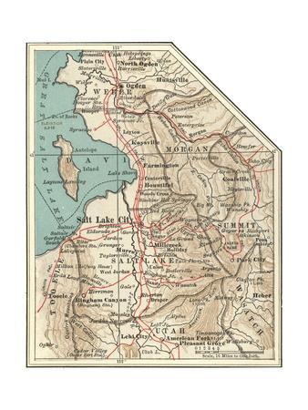 Maps of Utah Posters for sale at AllPosterscom