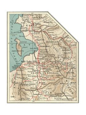 Map of the Salt Lake City by Encyclopaedia Britannica