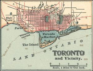 Map of Toronto (C. 1900), Maps by Encyclopaedia Britannica