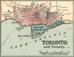 Map of Toronto (C. 1900), Maps by Encyclopaedia Britannica