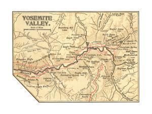 Map of Yosemite Valley (C. 1900), Maps by Encyclopaedia Britannica