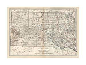 Plate 100. Map of South Dakota. United States by Encyclopaedia Britannica