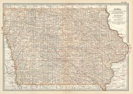 Affordable Maps of Iowa Posters for sale at AllPosters.com