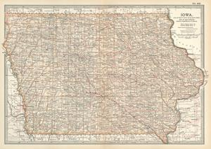 Plate 101. Map of Iowa. United States by Encyclopaedia Britannica