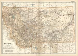 Plate 107. Map of Montana. United States by Encyclopaedia Britannica