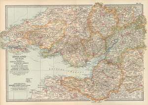 Plate 11. Map of England and Wales by Encyclopaedia Britannica