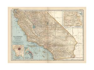 Plate 115. Map of California by Encyclopaedia Britannica