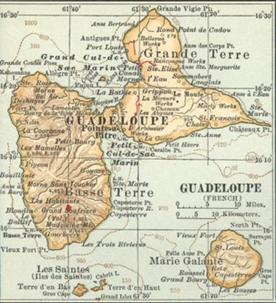 Plate 118. Inset Map of Guadeloupe (French) by Encyclopaedia Britannica