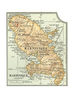 Plate 118. Inset Map of Martinique (French) by Encyclopaedia Britannica