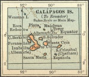 Plate 121. Inset Map of Galapagos Islands by Encyclopaedia Britannica