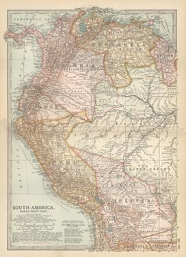 Plate 122. Map of South America by Encyclopaedia Britannica