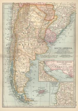 Plate 124. Map of South America by Encyclopaedia Britannica