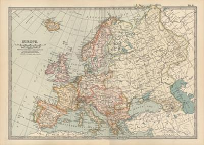 Plate 2. Map of Europe by Encyclopaedia Britannica