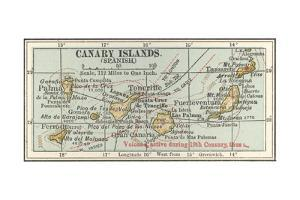 Plate 20. Inset Map of the Canary Islands (Spanish). Palma by Encyclopaedia Britannica