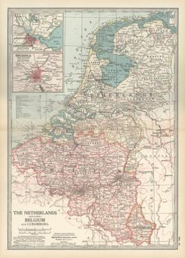 Plate 21. Map of the Netherlands (Holland) by Encyclopaedia Britannica