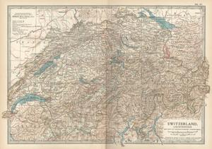 Plate 27. Map of Switzerland by Encyclopaedia Britannica