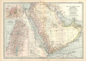 Plate 39. Map of Part of Arabia by Encyclopaedia Britannica