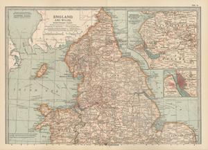 Plate 4. Map of England and Wales by Encyclopaedia Britannica