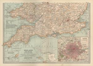 Plate 5. Map of England and Wales by Encyclopaedia Britannica