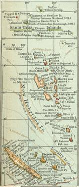 Plate 52. Inset Map of New Hebrides Islands by Encyclopaedia Britannica