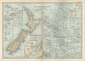 Plate 52. Pacific Ocean Islands Map by Encyclopaedia Britannica
