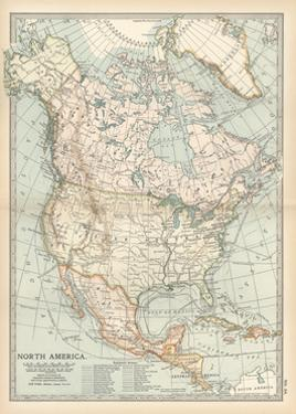 Plate 58. Map of North America. Alaska by Encyclopaedia Britannica