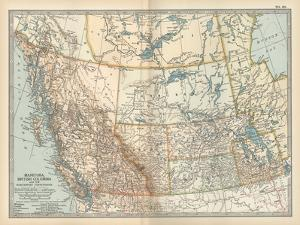 Plate 60. Map of Canada by Encyclopaedia Britannica