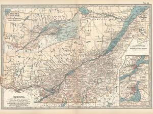 Plate 62. Map of Quebec by Encyclopaedia Britannica