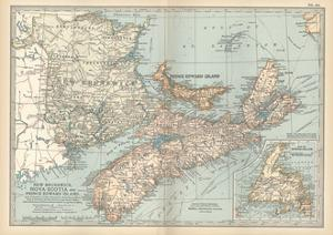 Plate 63. Map of Canada by Encyclopaedia Britannica